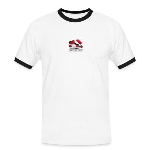 Sneaker Custom Merch /black text - Männer Kontrast-T-Shirt