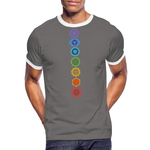 The 7 Chakras, Energy Centres Of The Body - Men's Ringer Shirt
