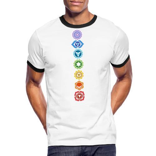 The 7 Chakras, Energy Centres Of The Body - Men's Ringer Shirt