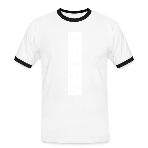 Österreich Balken hoch - Männer Kontrast-T-Shirt