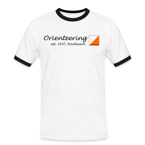 orienteering retro - Männer Kontrast-T-Shirt