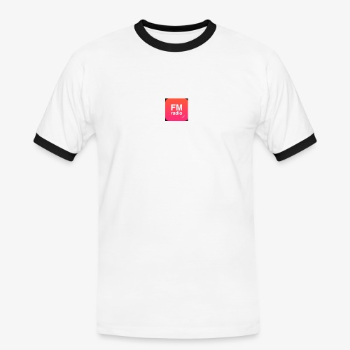 logo radiofm93 - Mannen contrastshirt