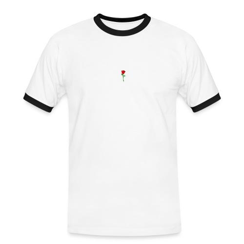 ROSE - Männer Kontrast-T-Shirt