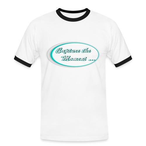 Logo capture the moment photography slogan - Men's Ringer Shirt