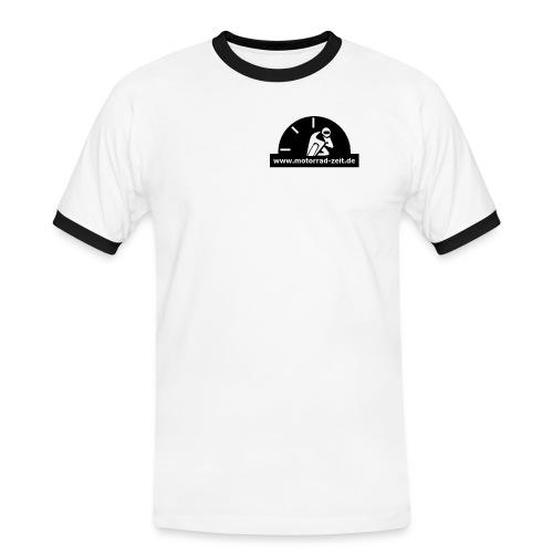 Motorrad Zeit de Logo - Männer Kontrast-T-Shirt