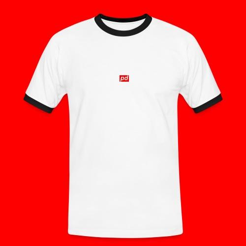 pd Red - Herre kontrast-T-shirt