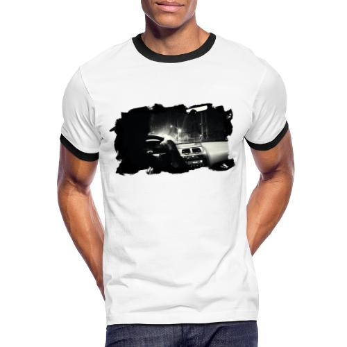 Driving at Night (with black PS logo) - Herre kontrast-T-shirt