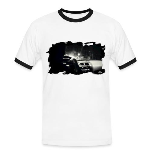PS-001 Driving at Night (Blck PS logoon back) - Herre kontrast-T-shirt