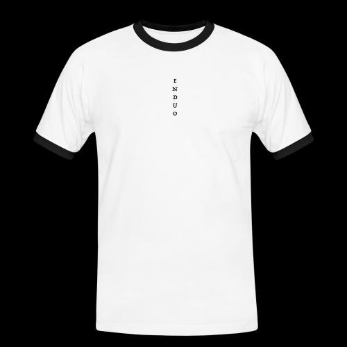 ENDUO black - T-shirt contrasté Homme