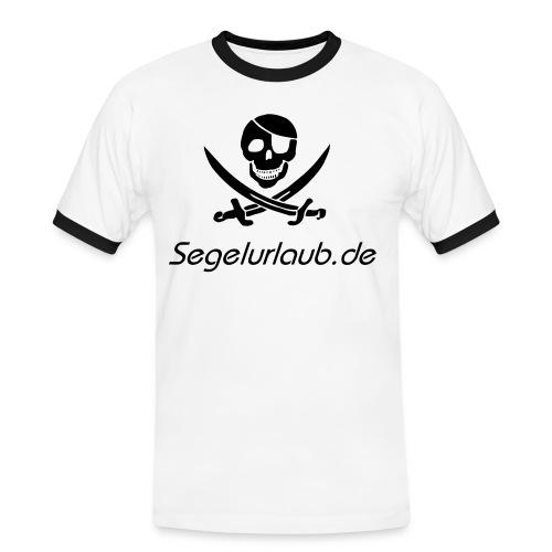 pirat schrift - Männer Kontrast-T-Shirt