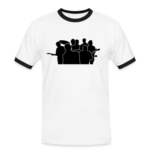 sappalot heads black - Männer Kontrast-T-Shirt