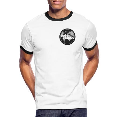 acid world clear - Koszulka męska z kontrastowymi wstawkami