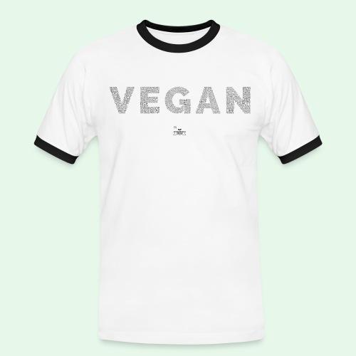 Vegan - Black - Kontrast-T-shirt herr