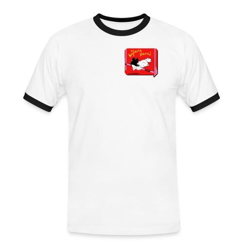 pappis - Kontrast-T-shirt herr