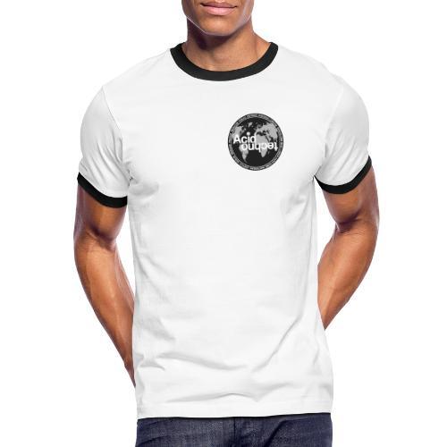acid techno world - Koszulka męska z kontrastowymi wstawkami