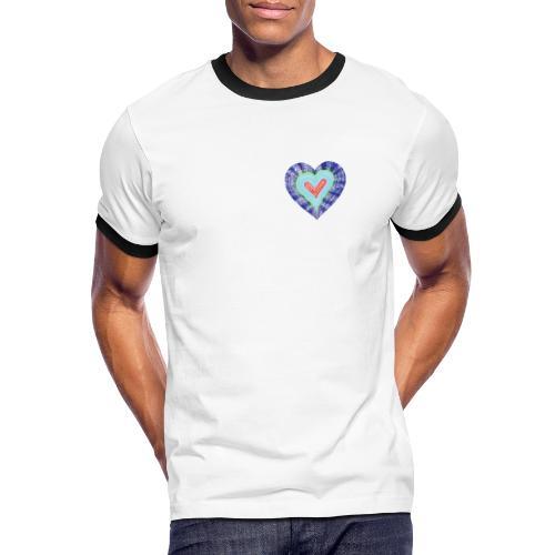 HeartSpread 18Little red heart in a green garden - Men's Ringer Shirt