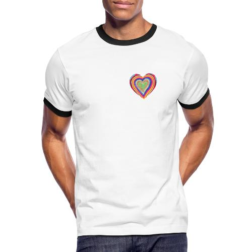A heart in hearts is pure love on many levels - Men's Ringer Shirt