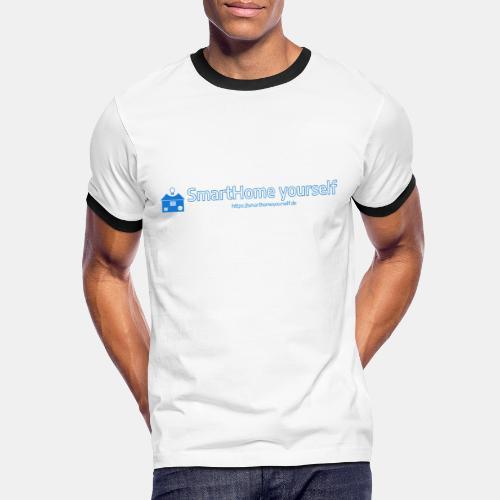 SmarthomeYourself Logo - Männer Kontrast-T-Shirt