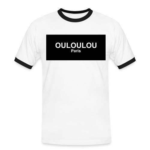 ouloulou ecriture blanc 01 jpg - T-shirt contrasté Homme