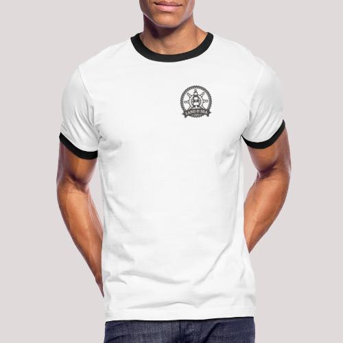 Anker Land Sea - Männer Kontrast-T-Shirt