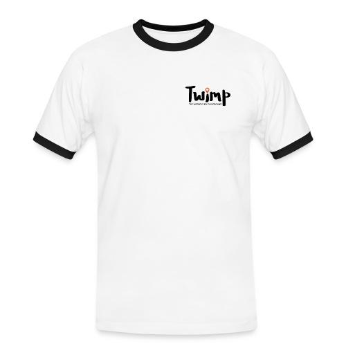 Logo Schriftzug - Männer Kontrast-T-Shirt