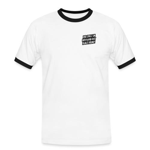 Der Spatz - Männer Kontrast-T-Shirt