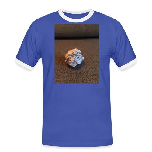Jeg skal lave et projekt i billedkunst - Herre kontrast-T-shirt