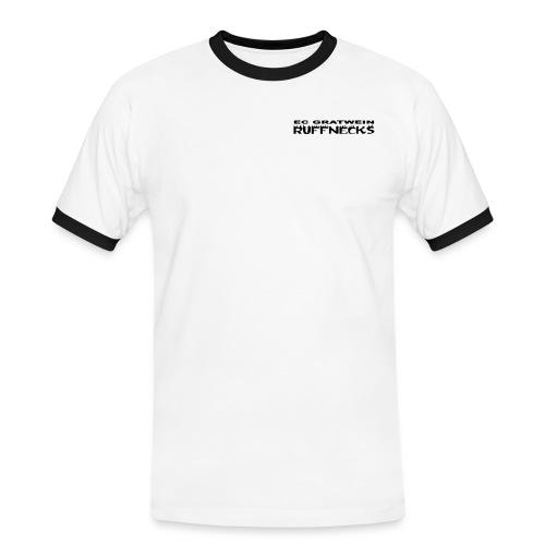 schriftzug ruff blk shirt - Männer Kontrast-T-Shirt