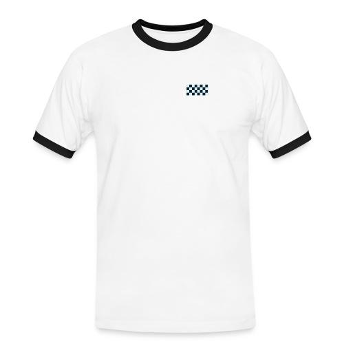 rute - Kontrast-T-skjorte for menn