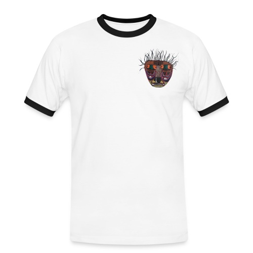 Weird Mask - Männer Kontrast-T-Shirt