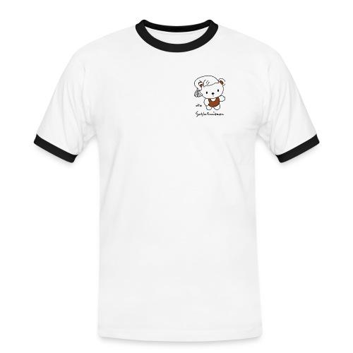 schlafmuetzen logo text - Männer Kontrast-T-Shirt