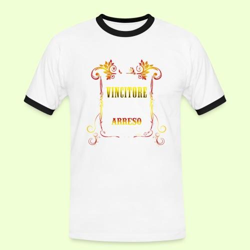 disegno linea Vincitore - Maglietta Contrast da uomo
