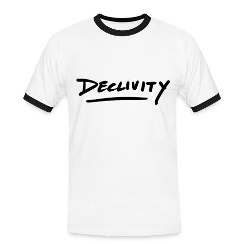 Projekt 2 svart - Kontrast-T-shirt herr