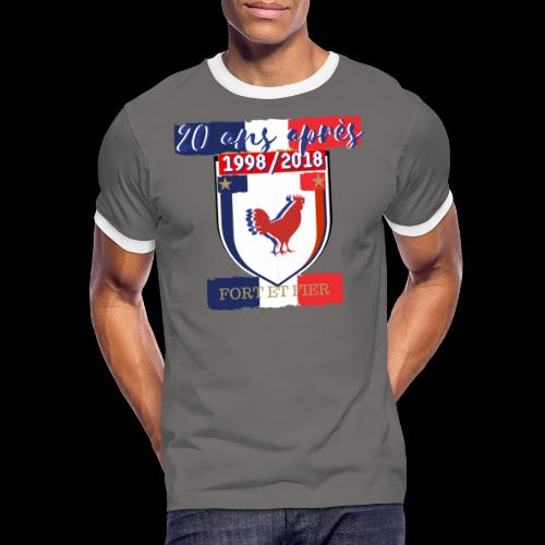 france FRANCE foot coupe du monde football - T-shirt contrasté Homme