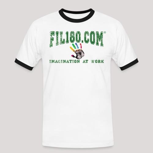 FIL180 HOODY GREEN - Men's Ringer Shirt