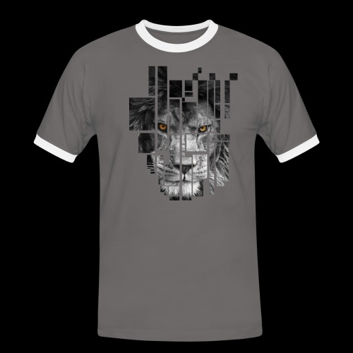 Pixel Lion Tattoo Inspire - Men's Ringer Shirt