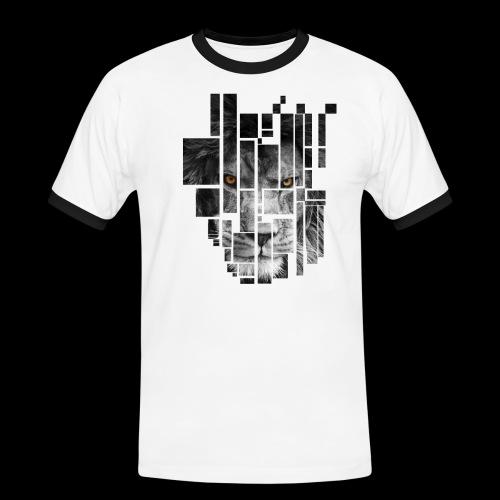 Pixel Lion Tattoo Inspire - Men's Ringer Shirt