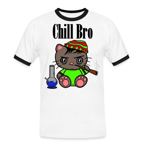 Chill Bro Katze - Männer Kontrast-T-Shirt