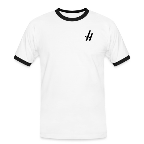 JH NEW BLACK png - Men's Ringer Shirt