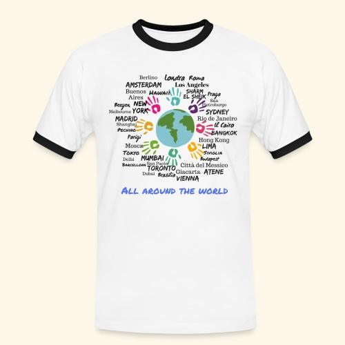 All around the world uomo - Maglietta Contrast da uomo