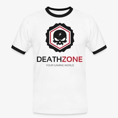 DeathZone Logo Avatar - Koszulka męska z kontrastowymi wstawkami