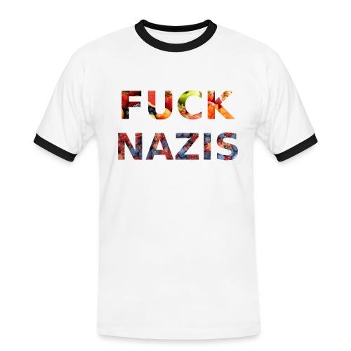 Fuck Nazis with Fruits - Männer Kontrast-T-Shirt