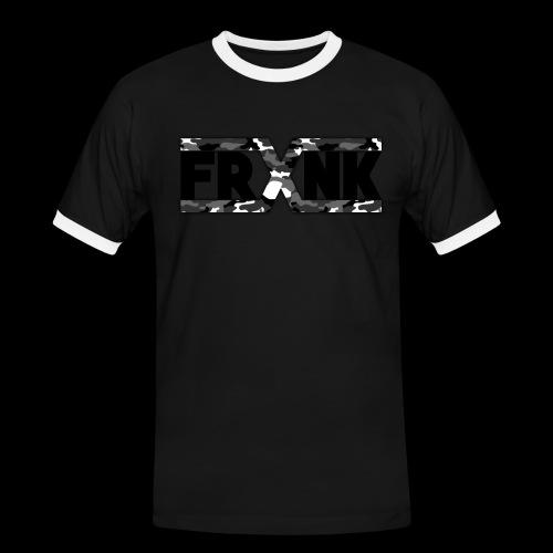 Grey Camo 'FRXNK' Logo - Men's Ringer Shirt