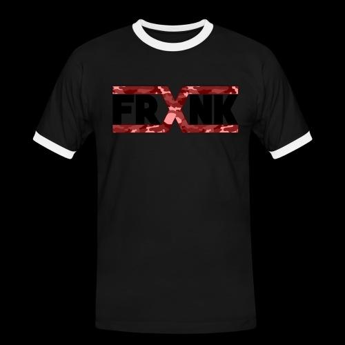 Red Camo 'FRXNK' Logo - Men's Ringer Shirt