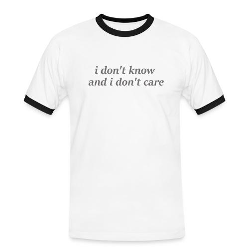 idontknowandidontcare - Camiseta contraste hombre