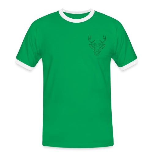 cerf geometrique png - T-shirt contrasté Homme