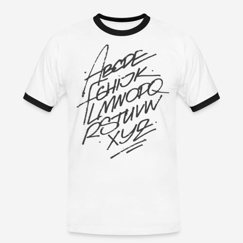 letters font alphabet - Männer Kontrast-T-Shirt