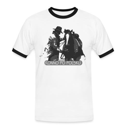 horse2 - Koszulka męska z kontrastowymi wstawkami