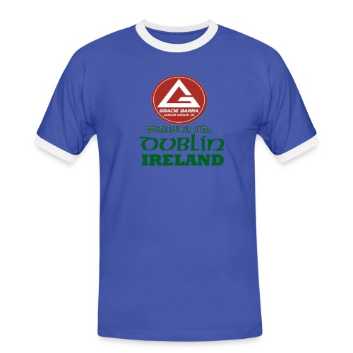 Gracie Barra Dublin Gaelic Celtic Font PNG - Men's Ringer Shirt