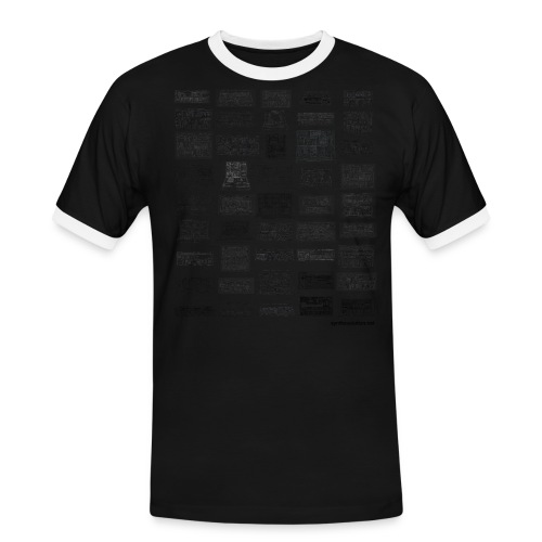 Synth Evolution T-shirt - White - Men's Ringer Shirt